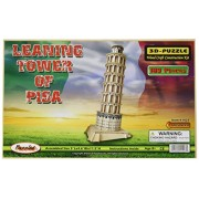 Puzzled, Inc. 3D Natural Wood Puzzle - Leaning Tower of Pisa