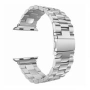 Bratara cu zale si conectori din otel inoxidabil pentru Apple Watch 1 / 2 / 3 / 4 series 42/44mm si catarama fluture , argintiu