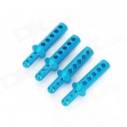 Parte del cuerpo de la aleacion de aluminio parte HSP 188037 mejora para 1:10 escala coche RC - azul (4 PCS)