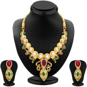 Sukkhi Gold Plated AD Necklace Set For Women