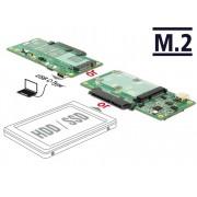 DeLock Converter SuperSpeed USB 10 Gbps (USB 3.1 Gen 2) with USB Type-C female > 1xSATA/1xM.2 Key B /1xmSAT 62993