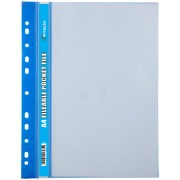 Butterfly Fileable Pocket File Solid Cover 20 Page Blue
