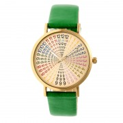 Crayo Fortune Strap Watch - Gold/Green CRACR4304