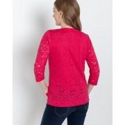 "The Glam Club Ausbrenner-Shirt ""Flowers"" female Größe 44"