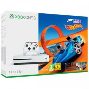 Consola Microsoft Xbox One Slim 1 TB, Alb + Forza Horizon 3 + Hot Wheels Expansion