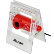 Camera Web Msonic MR1803R, VGA, Microfon (Rosu)