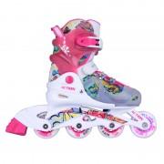 Детски регулируеми ролери Action Doly Pink със светещи колела