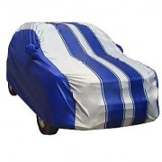Autofurnish Ace Printed Stripe Car Body Cover For Ford Fiesta - Ace Grey Blue