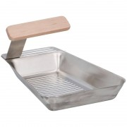 BBQ Collection 2x Barbecue pan RVS 25 x 16 cm