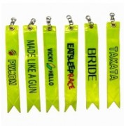 AutoTrends One Car Bike Highly Reflective Reflector Radium Warning Tag Ribbon Assorted Color And Design Luggage Strap(Multicolor)