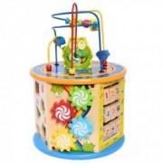 Cub Educativ Multicolor 8-in-1 cu Labirint si Activitati pentru Copii