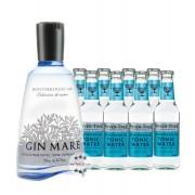 Gin Mare & 8 x Fever-Tree Mediterranean Tonic Water (42,7 % Vol., 2,3 Liter)