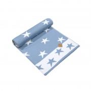 Kama Fashion&Function Merinowol babydeken blauw/wit met sterren 70 x 90cm Q102