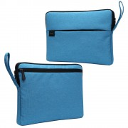 Splash-proof Nylon Fabric Soft Plush Lining Protective Sleeve Bag for 15.6-inch Laptop - Blue