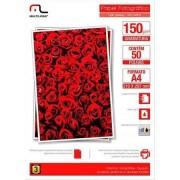 Multilaser Glossy Paper Multilaser Pe003 A4 150G C/ 50 Folhas - Branco - PE003 PE003