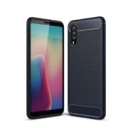 Huawei P20 karbon mintás tok - KÉK