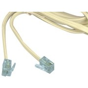 Cablu telefon cu mufe 2m alb