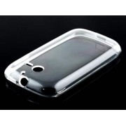 Frosted Colour TPU Gel Case for Huawei Ascend Y201 Pro - Huawei Soft Cover (Clear)