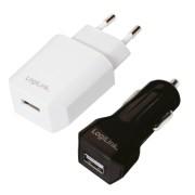 Logilink PA0109 USB Travel Kit each 1x USB port 5W/6W