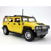 2003 Hummer H2 1/27 Scale Diecast Metal Model - Yellow