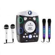 auna Kara Projectura nero + Dazzl Mic Set Karaoke Microfono Luci LED