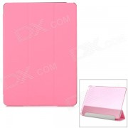 Protector Ultra-Slim Smooth Smart PU caso con PC de nuevo? soporte para IPAD AIR 2 - Rosa