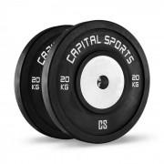 Capital Sports Inval bumper versenytárcsák, 50 mm, alumínium mag, 2 x 20 kg (PL-2x-30207)