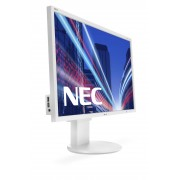 NEC MultiSync EA244WMi white 24.1' LCD monitor with LED backlight, IPS panel, resolution 1920x1200, VGA, DVI, DisplayPort, HDMI, speakers, 130 mm height adjustable