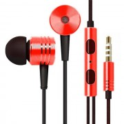 Maxy Mi Auricolare A Filo Stereo Super Bass Headphones In-Ear Jack 3,5mm Universale Red Per Modelli A Marchio Motorola