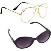 Criba Cat-eye, Aviator Sunglasses(Clear, Violet)