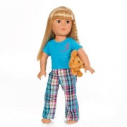 18 Inch Doll Clothes Plaid Pajamas with Teddy Bear   Fits American Girl Dolls   Gift-boxed!