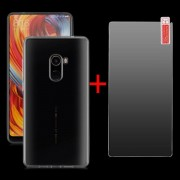 Bakeey Transparent Soft TPU Protective Case + Anti-Explosion Tempered Glass For Xiaomi Mi MIX 2