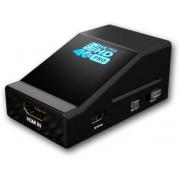 Distributore (splitter) HDMI 4k UHD con funzione di Scaler, Nero