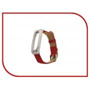Aксессуар Ремешок Apres Mijobs Leather Strap for Xiaomi Mi Band 2 Red