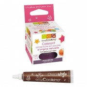 ScrapCooking Stylo chocolat + Colorant alimentaire naturel Pourpre
