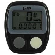 Cycle Computer Velocimetro Para Bicicleta con 14 Funciones con Reloj y Sensor de Velocidad -Negro.