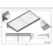 Zadaszenie drzwiowe typ E2 150x95 cm