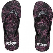 FOX SAMPLE GIRLS MIXED TAPE FLIP FLOP BLK