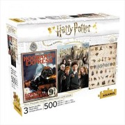 Harry Potter - 3 x 500 Piece Puzzle Set