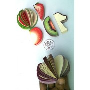 Toys! Cute Fruit Shape Note Paper,Memo Notepad (6 Piece) series ''A''.