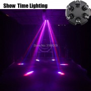 High bright 6 arms Led beam moving head pan rotate unlimited stage effect DMX 512 Control KTV Party lite home entertain