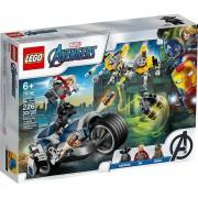 Lego set de construcción lego super héroes vengadores: ataque en moto 76142