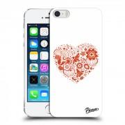 Műanyag átlátszó tok az alábbi mobiltelefonokra Apple iPhone 5/5S/SE - Big heart