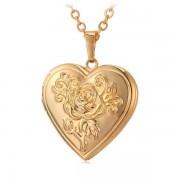 Damhalsband med Medaljong Hjärta med Lock