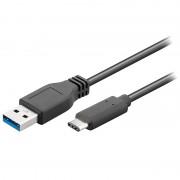 Cabo USB 3.0 / USB Tipo-C Goobay - 0.5m - Preto