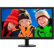 Monitor 27'' LED PHILIPS 273V5LHAB, 5ms, 300cd/m2, 20.000.000:1, D-SUB, DVI, HDMI, crni