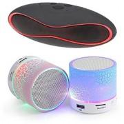 Portable Mini Bluetooth Speaker Combo with Mini Music Bluetooth Speaker (Pack of 2 Speakers)-Multicolor