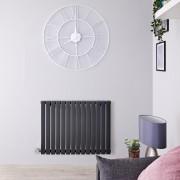 Hudson Reed Radiateur design électrique horizontal - Anthracite - 63,5 cm x 83,4 cm x 5,4 cm - Sloane