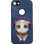 Skin iPhone 6/6S Lemontti Embroidery Blue Puppy
