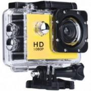 Camera Sport iUni Dare 50i HD 1080P 12M Waterproof Galben Bonus Bratara Roca Vulcanica unisex